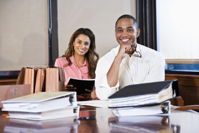bookkeepers smiling